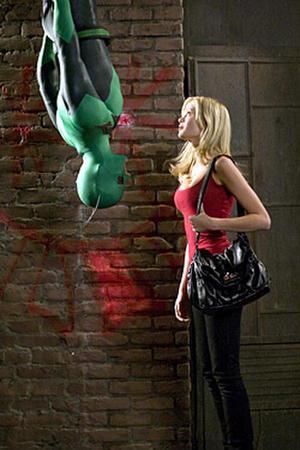 "Drake Bell and Sara Paxton in ""Superhero Movie."""