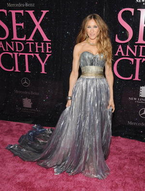 """Sarah Jessica Parker at the N.Y. premiere of """"Sex and the City."""""""