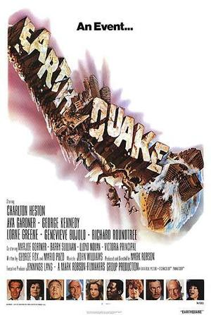 "Poster art for ""Earthquake."""