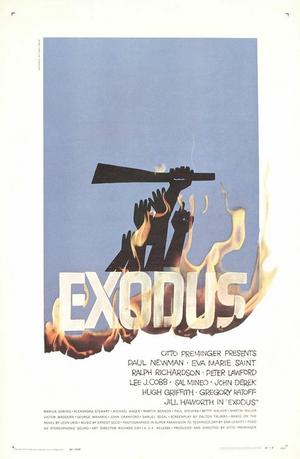 "Poster art for ""Exodus."""