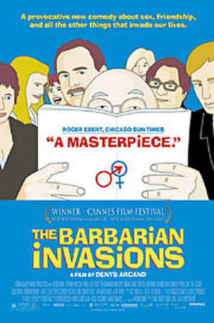 """Poster art for """"The Barbarian Invasions."""""""