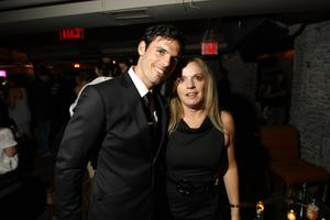 """Chris Santos and Nancy Santos at the after party of the New York premiere of """"The Girlfriend Experience."""""""