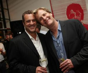 """John Hindman and Jeff Daniels at the after party of the New York premiere of """"The Answer Man."""""""