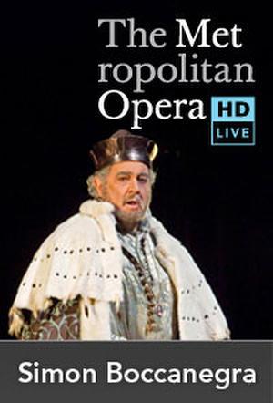 "Poster art for ""The Metropolitan Opera: Simon Boccanegra."""