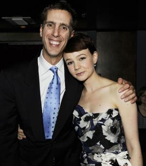 """James D. Stern and Carey Mulligan at the after party of the California premiere of """"An Education."""""""
