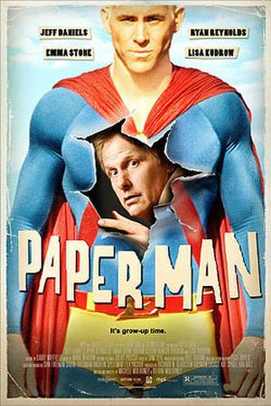 "Poster art for ""Paper Man."""