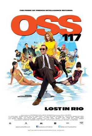 """Poster art for """"OSS 117 - Lost in Rio."""""""