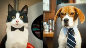 """Tab Lazenby voiced by Roger Moore and Lou voiced by Neil Patrick Harris in """"Cats & Dogs: The Revenge of Kitty Galore."""""""