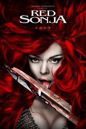 "Poster art for ""Red Sonja"""
