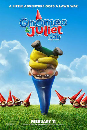 """Poster art for """"Gnomeo and Juliet."""""""