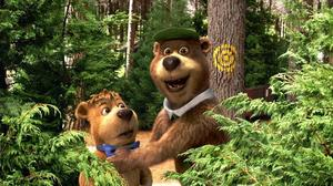 "Justin Timberlake voices Boo Boo and Dan Aykroyd voices Yogi Bear in ""Yogi Bear."""