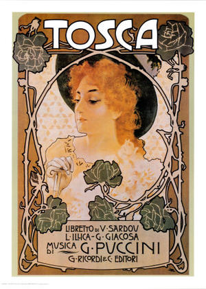 "Poster art for ""Tosca"""