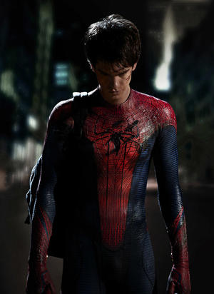 "Andrew Garfield as Spider-Man in ""The Amazing Spider-Man: The IMAX Experience."""