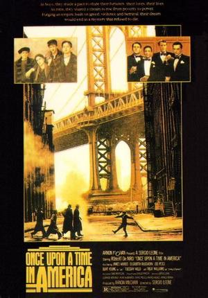 "Poster art for ""Once Upon a Time in America."""