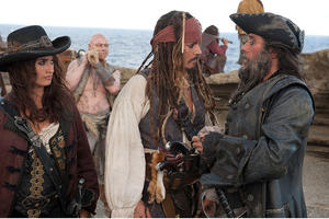 """Penelope Cruz as Angelica, Johnny Depp as Captain Jack Sparrow and Ian McShane as Blackbeard in """"Pirates of the Caribbean: On Stranger Tides."""""""