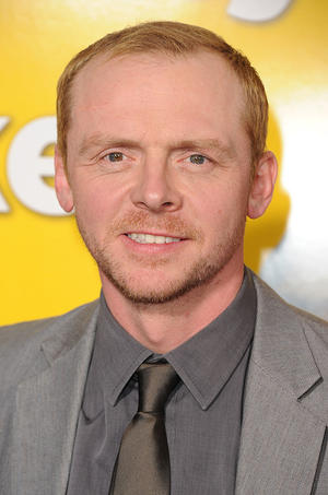 "Simon Pegg at the California premiere of ""Paul."""