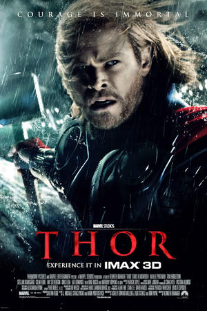 "Poster art for ""Thor: An IMAX 3D Experience."""