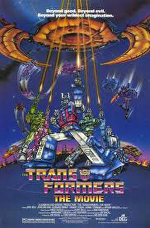 "Poster art for ""The Transformers: The Movie."""