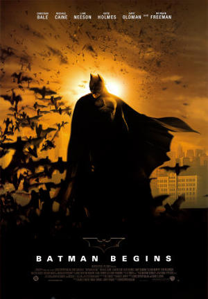 "Poster art for ""Batman Begins."""