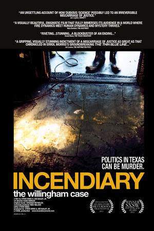 "Poster art for ""Incendiary: The Willingham Case."""