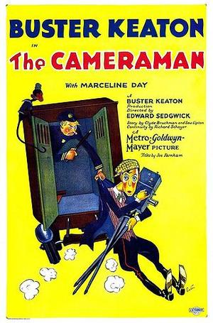 "Poster art for ""The Cameraman."""