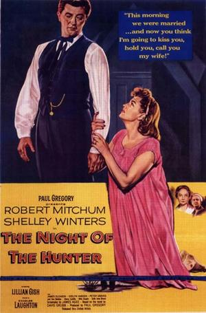 """Poster art for """"The Night of the Hunter."""""""
