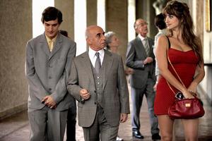 "Alessandro Tiberi as Antonio, Roberto Della Casa as Uncle Paolo and Penelope Cruz as Anna in ""To Rome With Love."""