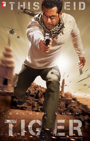 """Poster art for """"Ek Tha Tiger."""""""