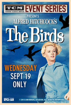 "Poster art for ""TCM Presents The Birds."""