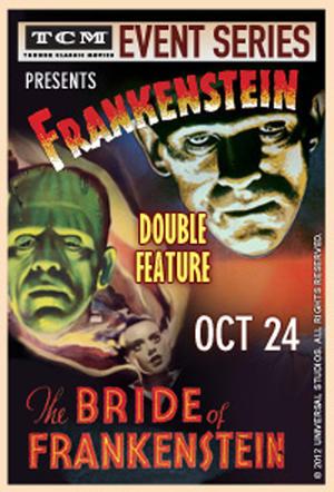 """Poster art for """"TCM Presents Frankenstein/Bride of Frankenstein."""""""