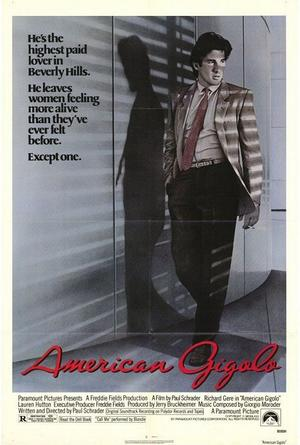 "Poster art for ""American Gigolo."""