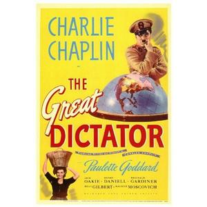 """Poster art for """"The Great Dictator."""""""