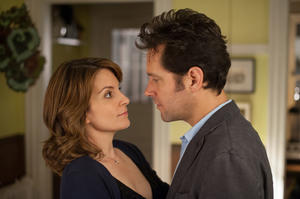 "Tina Fey as Portia Nathan and Paul Rudd as John Pressman in ""Admission."""
