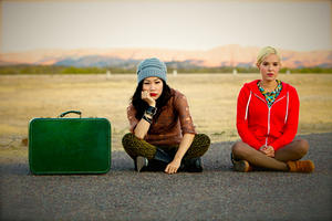 "Vera Miao and Brea Grant in ""Best Friends Forever."""