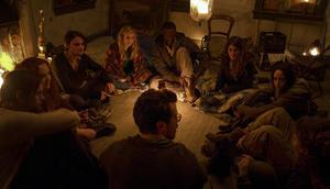 """Alexander Skarsgard as Benji, Danielle MacDonald as Tess, Shiloh Fernandez as Luca and Brit Marling as Sarah in """"The East."""""""