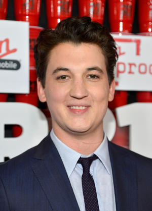 "Miles Teller at the California premiere of ""21 and Over."""