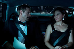 Aaron Eckhart and Ashley Judd in Olympus Has Fallen.