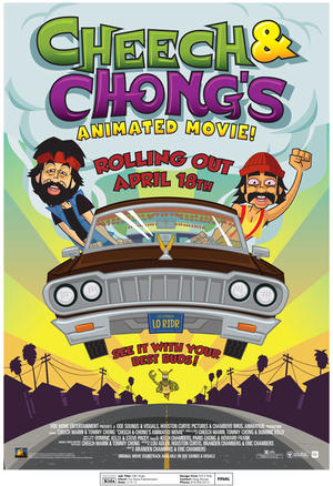 "Poster art for ""Cheech & Chong's Animated Movie."""