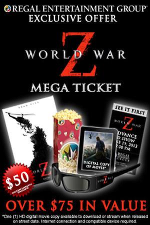 "Poster art for ""World War Z Mega Ticket."""