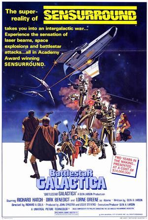 "Poster art for ""Battlestar Galactica: The Movie."""
