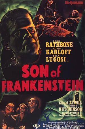 """Poster art for """"Son of Frankenstein."""""""