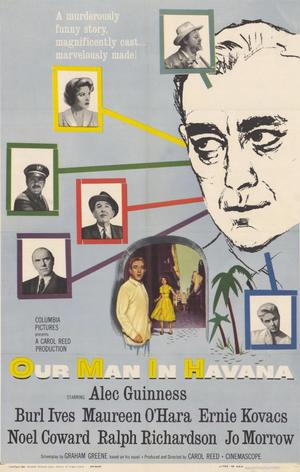 "Poster art for ""Our Man in Havana."""