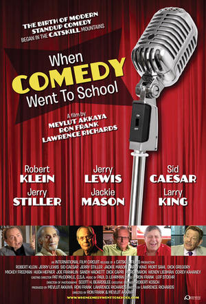 "Poster art for ""When Comedy Went to School."""