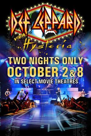 "Poster art for ""Def Leppard Viva Hysteria Concert."""