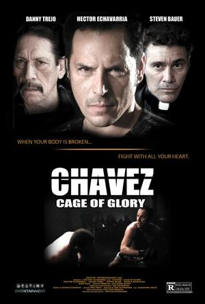 """Poster art for """"Chavez Cage of Glory."""""""