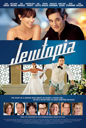"Poster art for ""Jewtopia."""