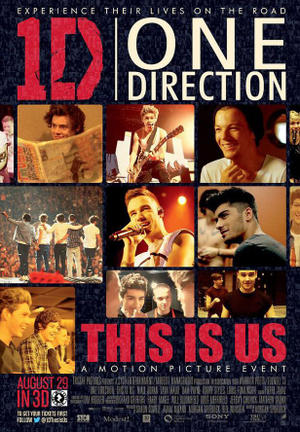 "Poster art for ""One Direction: This Is Us in 3D ."""