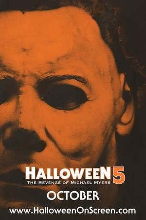"Poster art for ""Halloween 5: The Revenge of Michael Myers."""