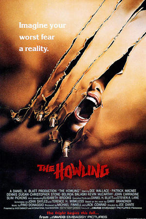 """Poster art for """"The Howling."""""""