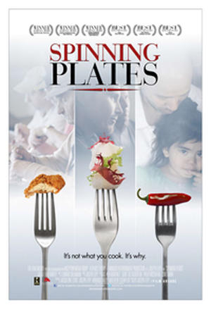 """Poster art for """"Spinning Plates."""""""